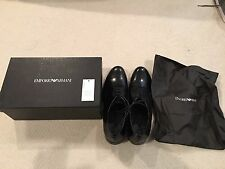 NIB EMPORIO ARMANI DRESS FORMAL LEATHER SHOES  SZ US 11 MADE IN ITALY $495