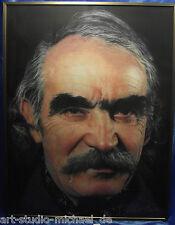 """Gottfried Helnwein Der Bildhauer """"Tinguely"""" Farblithographie"""