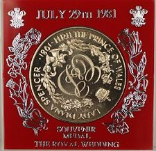 July 29th 1981 Great Britain UK  Souvenir Proof Medal The Royal Wedding