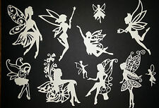 mixed fairy pack cut from white card  die - cuts scrapbooking crafts toppers