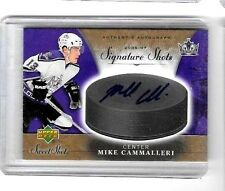 MIKE CAMMALLERI 2006-07 UD SWEET SHOTS SIGNATURE SHOTS CERTIFIED AUTOGRAPH