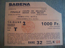 TICKET FINALE COUPE DE BELGIQUE 1989