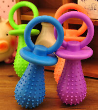Fashion Rubber Pacifier Pet Toys Dog Cat Puppy Chew Toys with Bell Sound Inside