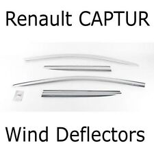 Chrome Plated Wind Deflectors for Renault CAPTUR 2013 - 2014