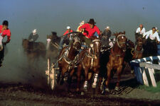 454074 Chuckwagon Race High River Alberta A4 Photo Print