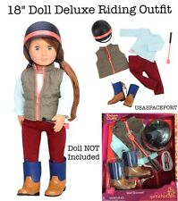 "18"" Doll HORSE RIDING Deluxe Equestrian Show Derby Clothes Outfit American Girl"