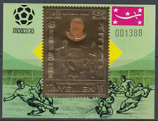 Yemen Kgr 1970 ** Bl.A194 Fußball Football Weltmeisterschaft World Cup Mexiko