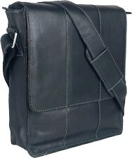 UNICORN Bolsa de cuero genuino - iPad, Tablet accesorios Bolsa - Negro #4E