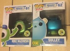 FUNKO POP! SDCC MONSTERS Inc METALLIC #61 MIKE WAZOWSKI #62 SULLEY Vaulted Lot