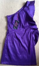 Ladies Purple One Shoulder Dress From Lila Size 12, BNWT, Free P&P!