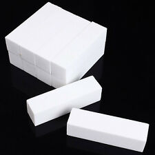 10 x Useful Buffer Buffing Block Sanding Files Nail Art Tips Manicure Tool White