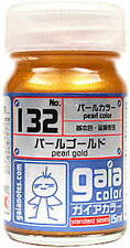 GAIA COLOR LACQUER 132 Pearl GLD GUNDAM MODEL KIT PAINT 15ml NEW