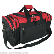 Brand New Duffle Bag Sports Duffel Bag in Red and Black Gym Bag