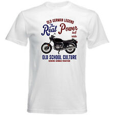 VINTAGE BMW R100 MOTORCYCLE REAL POWER - NEW COTTON T-SHIRT