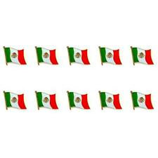 """LOT OF 10 MEXICO FLAG LAPEL PIN 0.5"""" Mexican NEW Small Pinback Hat Tie Badge"""