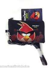 ANGRY BIRDS BLACK LANYARD WITH DETACHABLE COIN POUCH/WALLET/PURSE BY ROVIO-NEW
