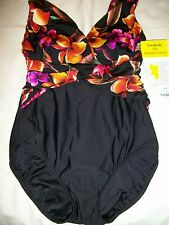 LADIES MISSES WOMENS SIZE10 ONE PIECE SWIMSUIT BATHING SUIT BY LONGITUDE NWT :)