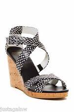 NEW IN BOX COLE HAAN JILIAN WEDGE POLKA DOT Black & White Sandal 9.5B $178