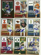 2015 Panini Contenders BLAKE TRAHAN Signed Card KINDER, LA RC auto REDS cajuns