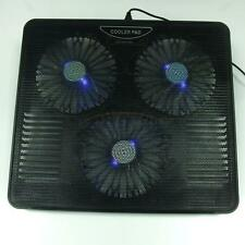 """New 2 USB 3 Fans Cooling Cooler Pad Stand for 12"""" to 15.4"""" with LED for Laptop"""