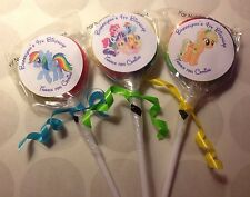 My Little Pony Swirl/Twirl Lollipop Candy/Party Favor Personalized 12 Count