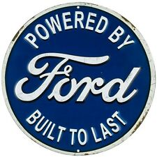 Classic ford metal embossed garage decor mancave blue ford automotive man cave