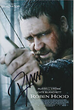 Russell Crowe Signed 4x6 Inch Photo Gladiator Cinderella Man Hollywood Actor