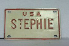 "USA - Small Personalized License Plate (STEPHIE) 4"" x 2 1/2"""