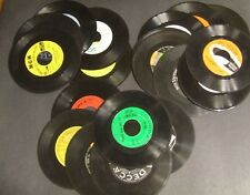 LOT 25 + Vintage Vinyl 7 inch 45 Records for Crafts Decoration Repurposing