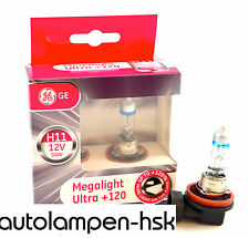 GE General Electric H11 MegaLight Ultra +120% 2 Stk TOP
