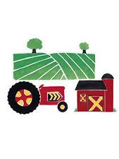 Big Red Barn Tractor Fields Farm Farmland Country Farmers 25 Wallies Wall Decals