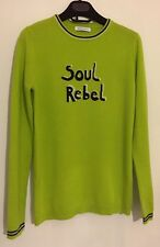Bella Freud Green Soul Rebel Cashmere Sweatshirt Jumper Sweater Medium 1970