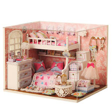 Kits DIY Wood Dollhouse miniature with Furniture Doll house room Angel Dream
