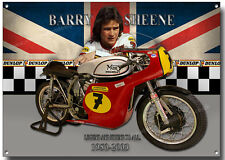 Barry Sheene METAL SIGN, WORLD CHAMPION Grand Prix moto ROAD racer.legend.
