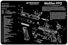 WALTHER PPQ 9MM PISTOL GUN CLEANING GUNSMITH BENCH LAP TOP MAT NEW