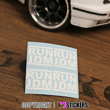 1:10 RUN JDM  Aufkleber RC Car Karosserie JDM OEM Sticker Truck LKW RC004