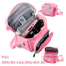 Pink Travel Case Carry Pouch Shoulder Strap Bag for Nintendo 3DS DS Lite DSi XL