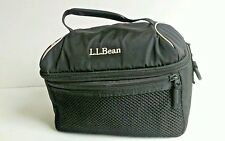 "LL Bean Black/ Gray Hiking Snack Camera Bag 9.5"" X 6.5"" x 5"""