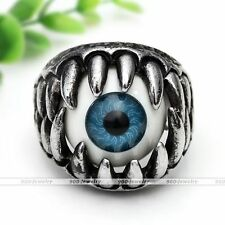 1pc Turkey Evil Eye Devil Ball Monster Biker Finger Ring Men Jewelry Punk Cool