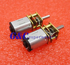 DC 12V 600RPM Micro Speed Reduction Gear Motor with Metal Gearbox Wheel Shaft