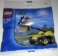 Original De Lego City Set 30229-Poly Bag-RARE-construcción Car + Builder