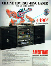 PUBLICITE ADVERTISING  046  1988  la chaine hi-fi compact-disc laser Amstrad