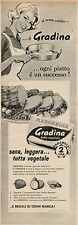 J0434 Margarina GRADINA - Pubblicità - 1961 Vintage Advertising