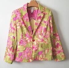 New Womens Susan Graver QVC Plus Size 16 Blazer Sport Coat Floral Long Sleeve