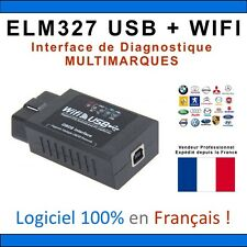 Interface DIAGNOSTIQUE ELM327 USB + WIFI - MULTIMARQUES IPHONE ANDROID COM VAG