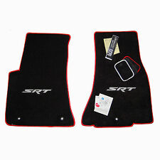 2011-2016 Dodge Challenger SRT- 392 Floor Mats - Silver & Red - 32oz 2ply USA