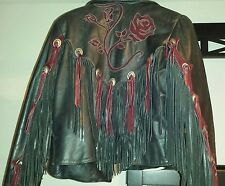 Women's Gypsy leather fringe jacket size 16