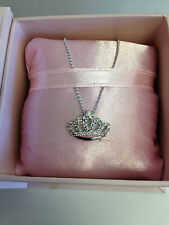Cinderella Diamond Tiara Necklace by Disney 14k white gold