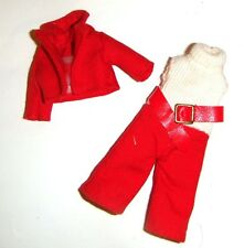 Kelly Clothes Red Jumpsuit/Jacket for 4 1/2 Inch Kelly Dolls ky38