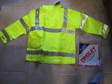 TINGLEY J23122 Rainwear Jacket, Class 3, Ylw/Grn, M